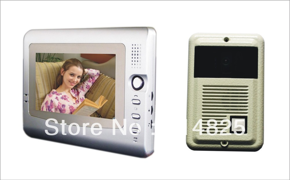 DWE CC RF 7 Inch Video Door Phone For Villa Color Intercom System With Handfree Monitor Bell Wintel Secure