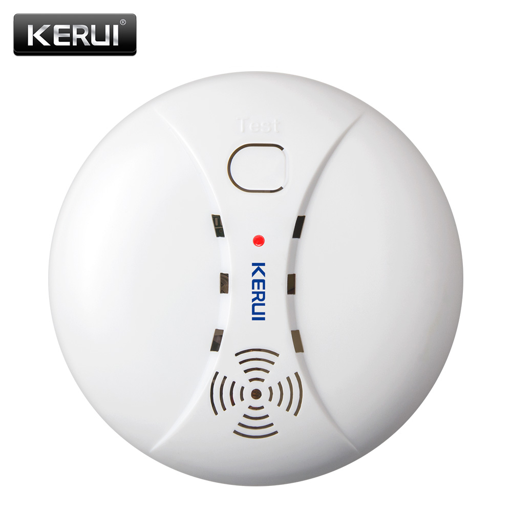 Conventional Fire Alarm Control System Smoke Detector 2 Wire 2wire Wiring Diagram Kerui Wireless Protection Portable Sensors For Home Security
